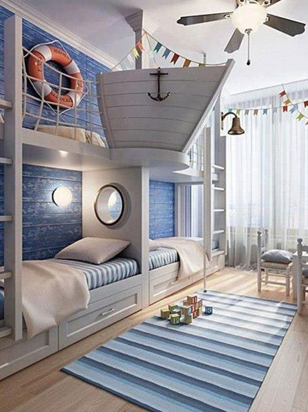 nautical-bedroom-with-kid-loft-rooms