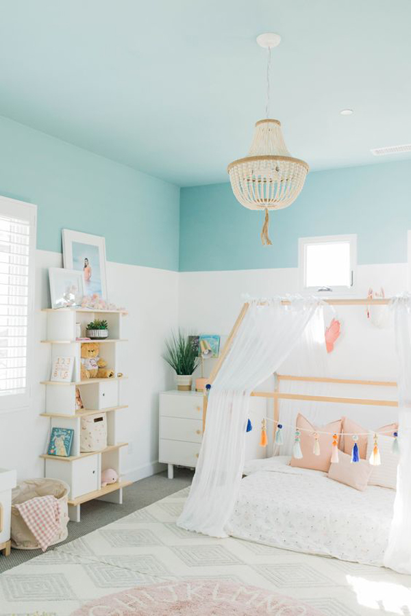 pastel-blue-kids-accent-wall-color