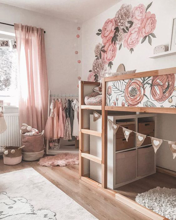 pretty-girl-room-with-ikea-loft-bed