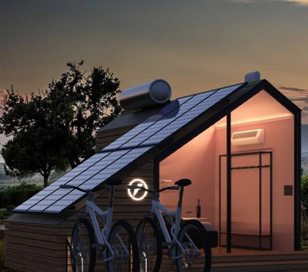 Solar-powered Tiny Cabins Integrated With E-Bike System