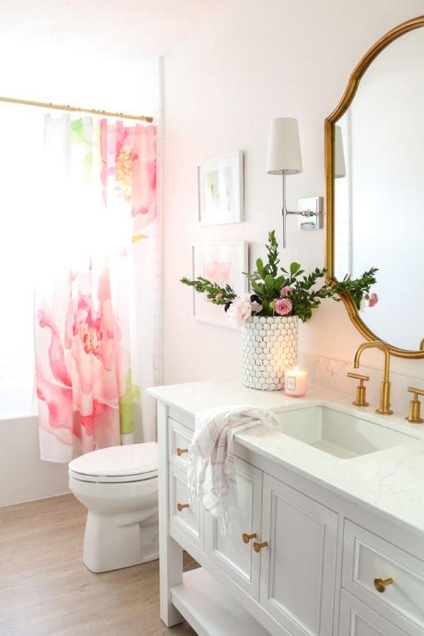 spring-flower-bathroom-decoration