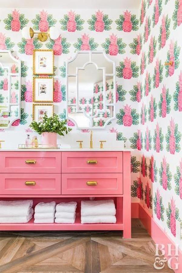spring-pineapples-wallpaper-for-bathroom