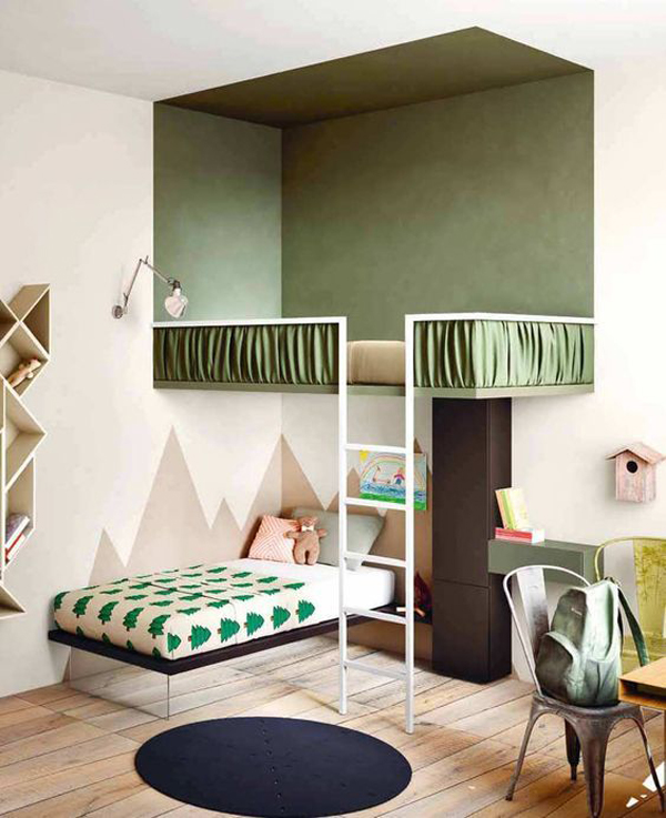 stylish-kids-bed-with-loft-rooms