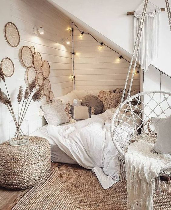 under-stairs-bohemian-bedroom-decor