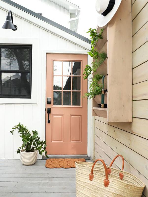 welcoming-brown-front-door-color
