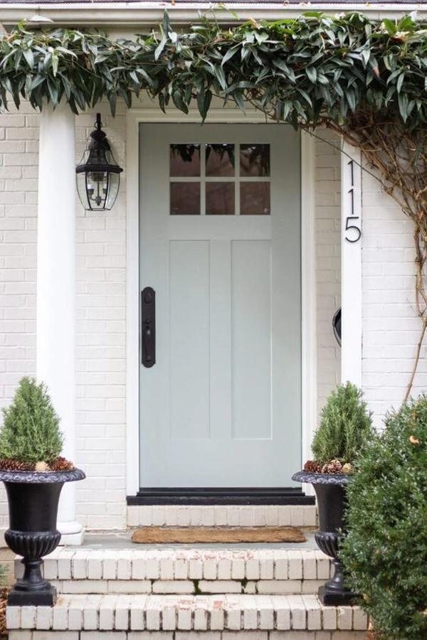 welcoming-grey-front-door-color