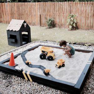 backyard-kid-sandbox-with-construction-truc-race