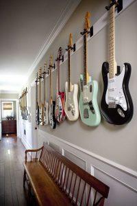 cool-guitar-display-rack-in-the-hallway