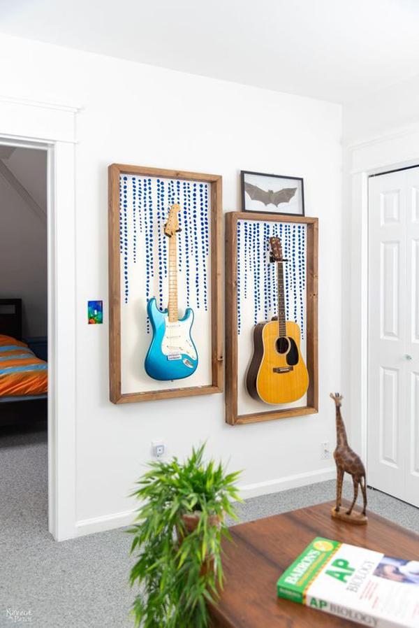 diy-guitar-display-frame-ideas