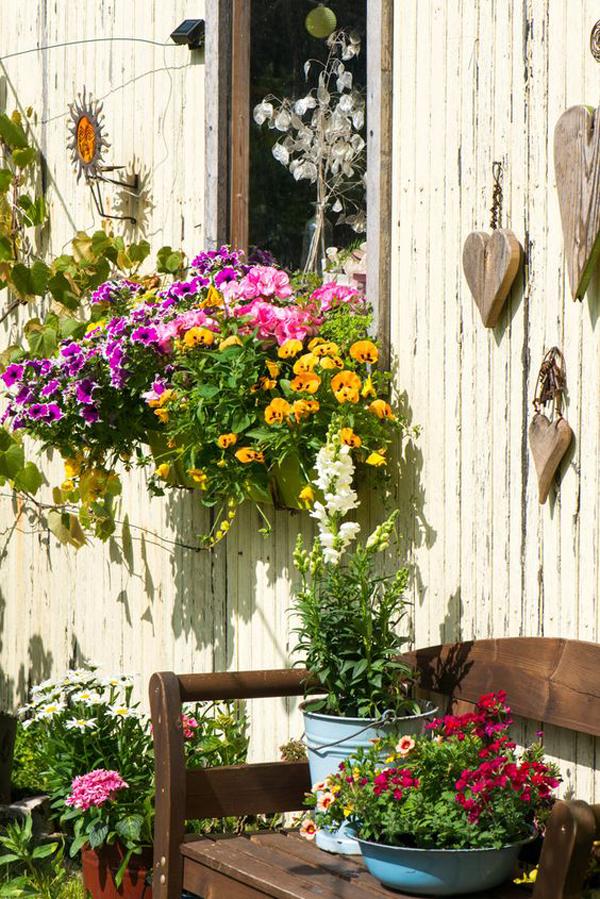 Сделай сам-весна-окно-цветочные ящики-с-садом