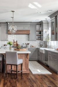 gray-kitchen-design-with-wood-accents