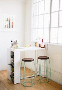 minimalist-white-folding-table-with-rack-storage