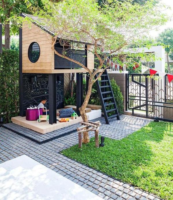 modern-backyard-with-playhouses