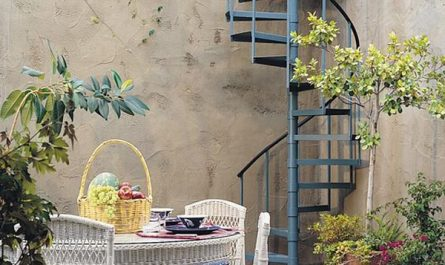 outdoor-metal-spiral-staircase-with-dining-areas