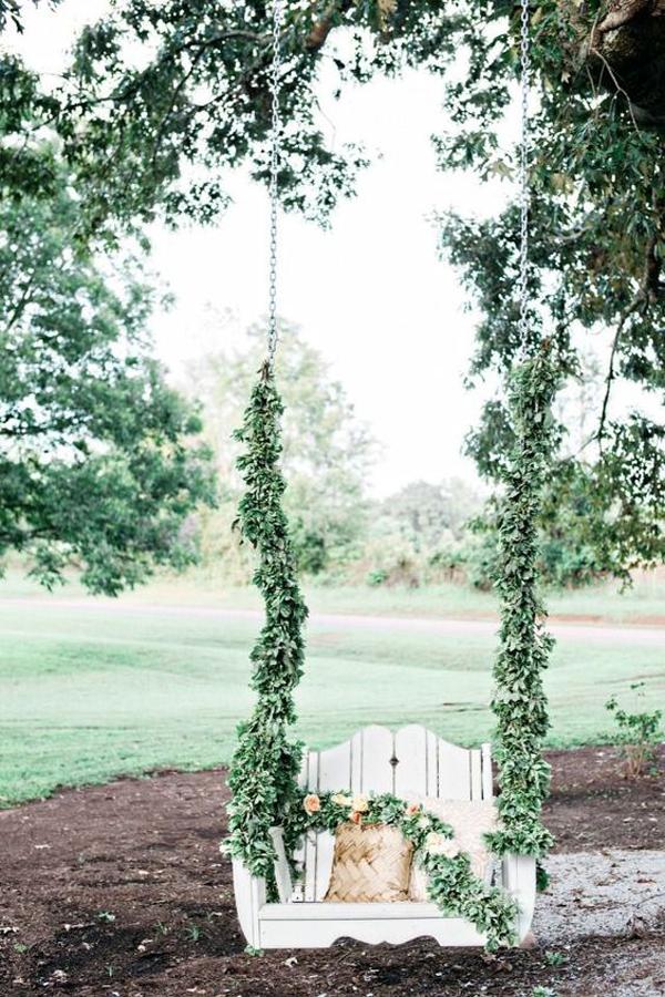 romantic-greenery-wedding-swing-decor