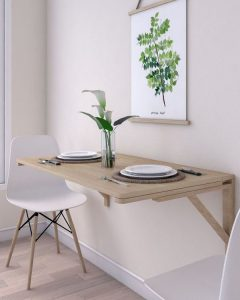 wooden-wall-folding-dining-table
