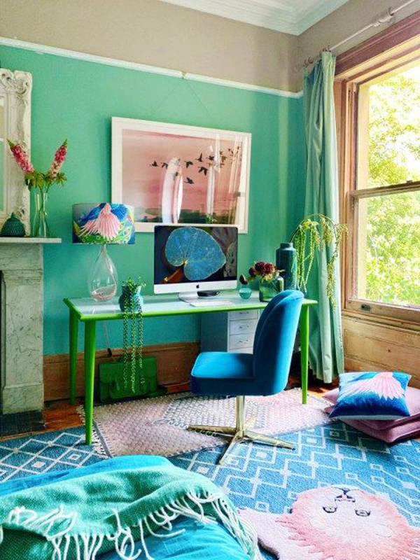 adorable-turquoise-home-office-design