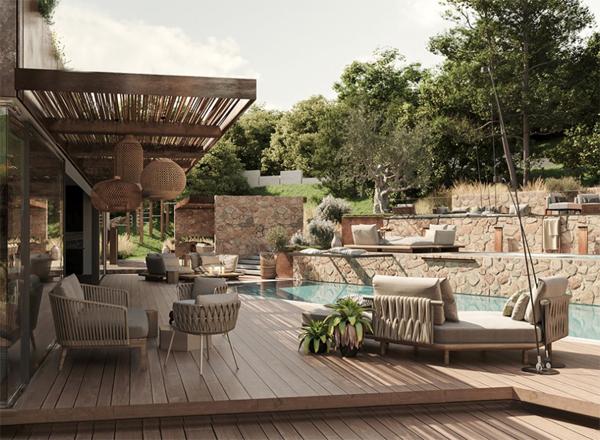 artistic-deck-poolside-seating-ideas