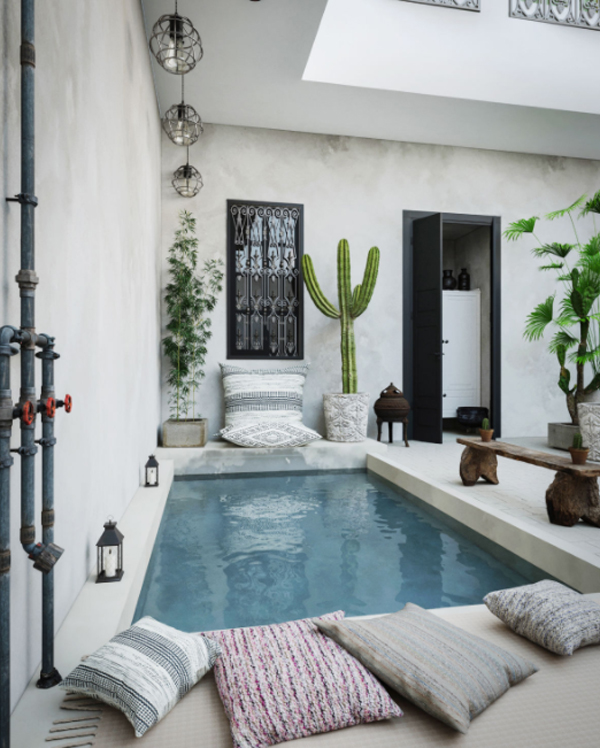boho-chic-poolside-with-throw-pillow