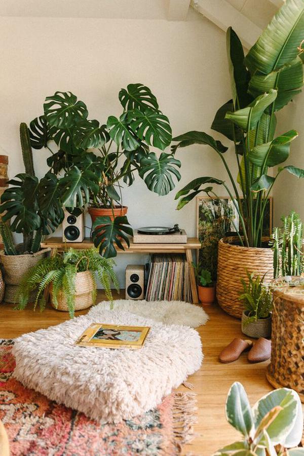 boho-jungle-record-corner