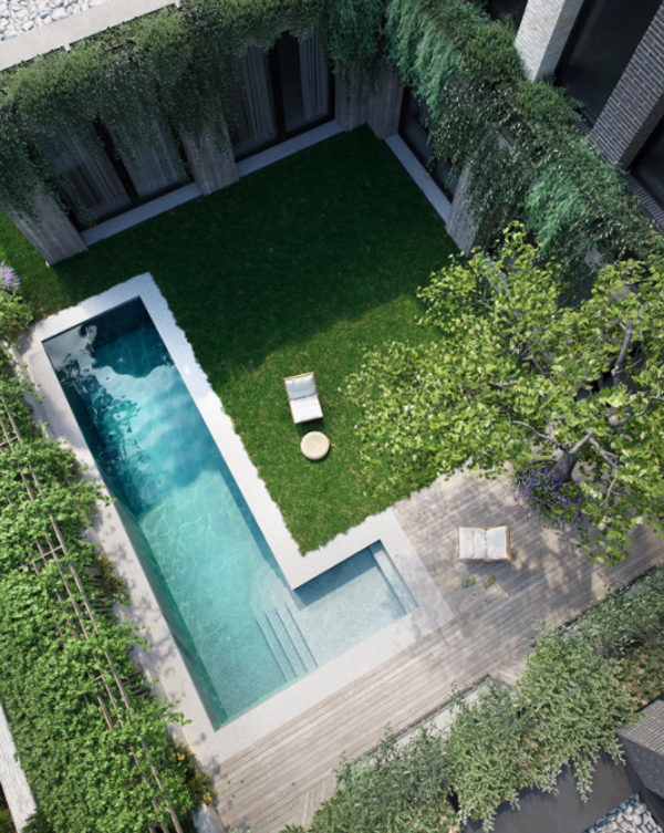 courtyard-pool-garden-with-chair