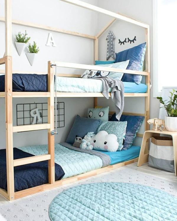 diy-ikea-kura-beds-with-blue-accent