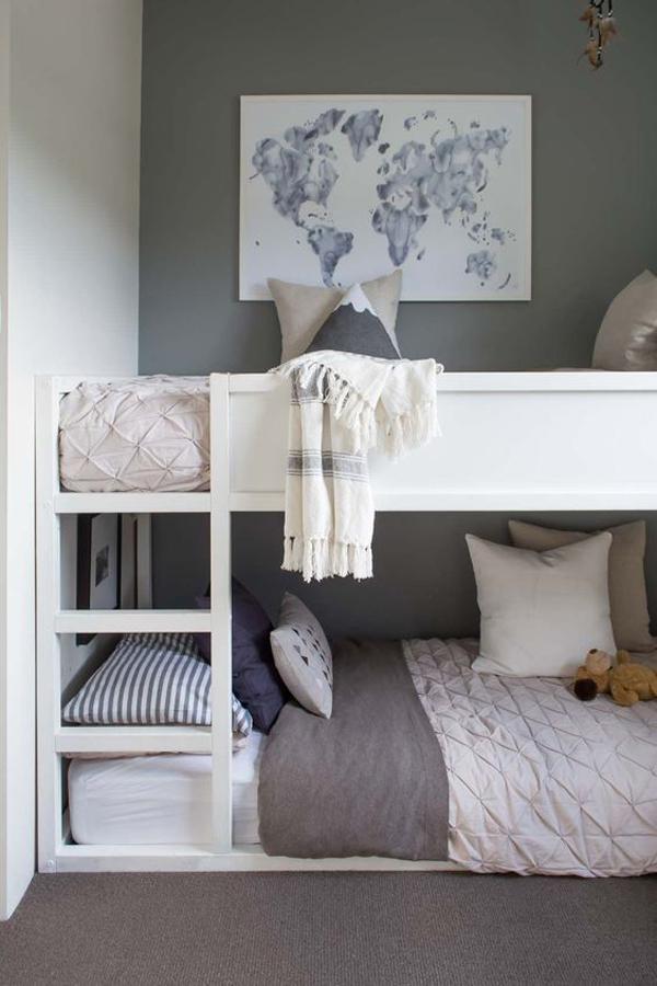 elegant-ikea-kura-bed-with-grey-wall