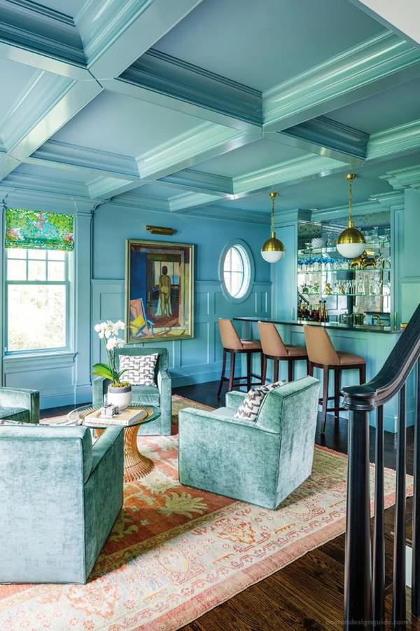 elegant-turquoise-interior-color