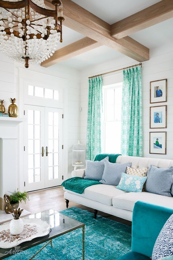 27 Inviting Interior Ideas With Turquoise Color