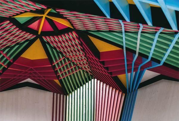 geometric-art-ceiling-pavilion