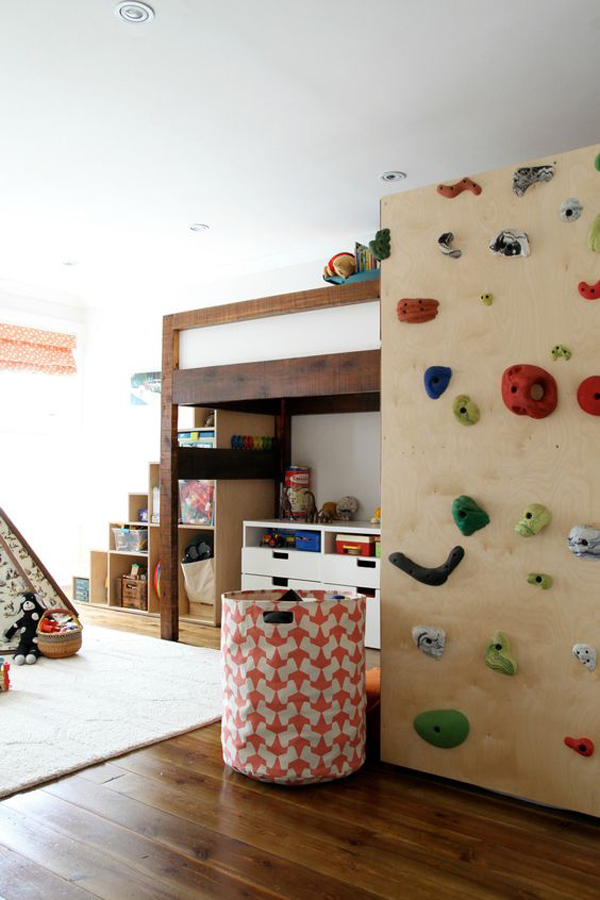 kid-bunk-bed-climbing-walls