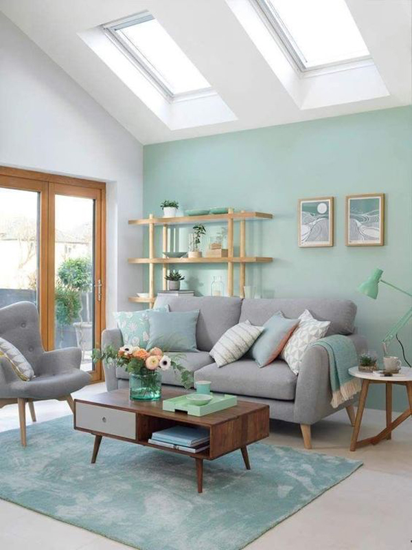 minimalist-turquoise-living-wall