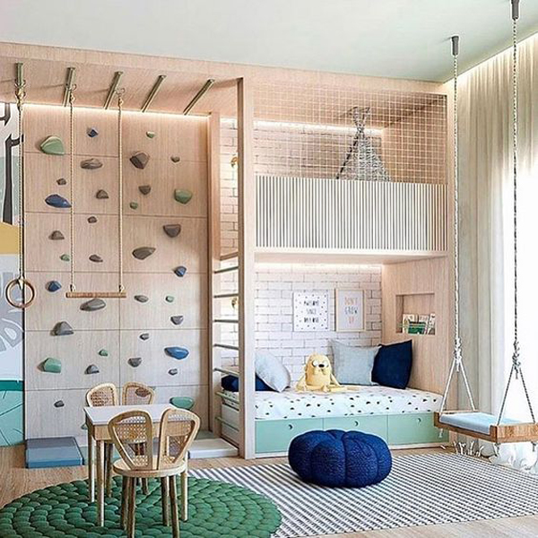 modern-kid-bunk-beds-with-climbing-wall