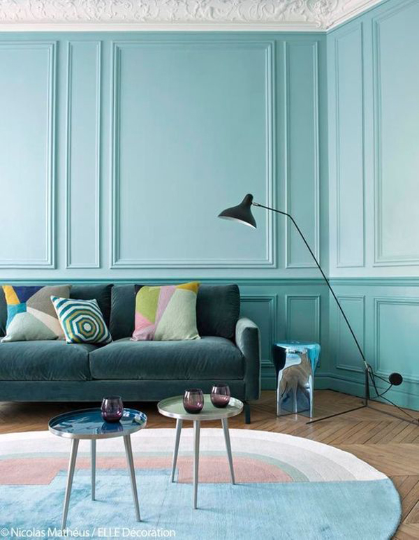 trendy-turquoise-living-room-color