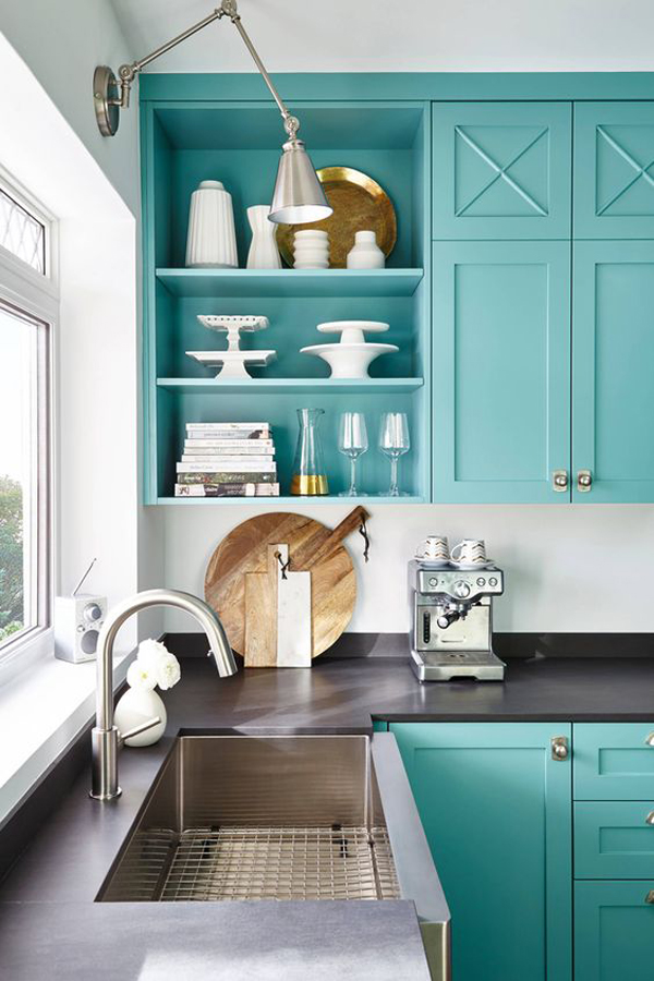 turquoise-kitchen-cabinet