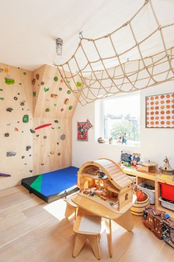 wooden-playroom-with-climbing-wall