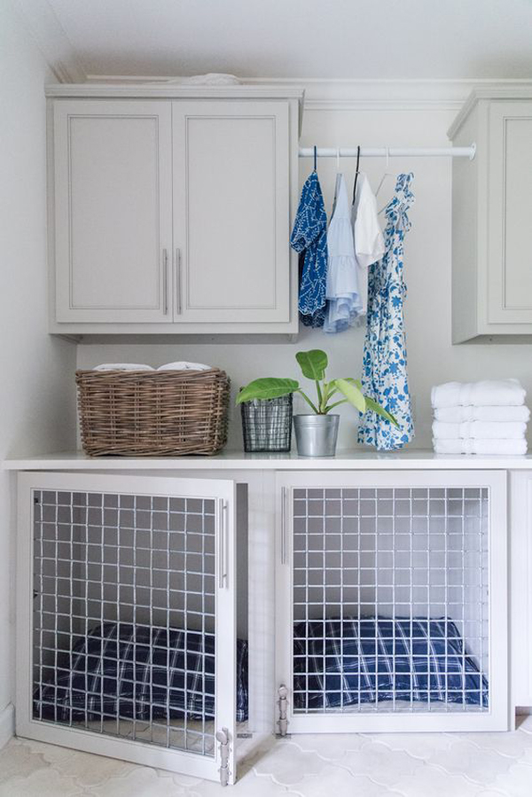 beautiful-laundry-space-with-dog-houses