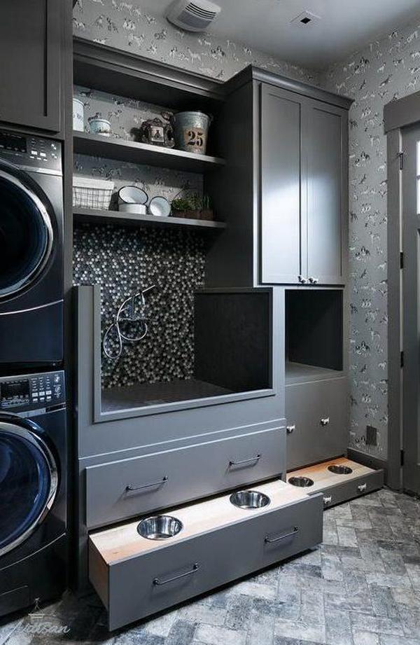 black-laundry-with-dog-food-station