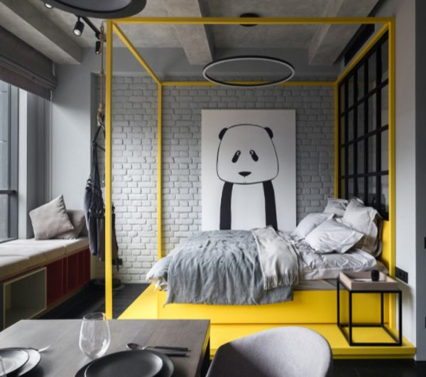 Bolshevik Apartment: Stylish And Interesting Space For Young Girl