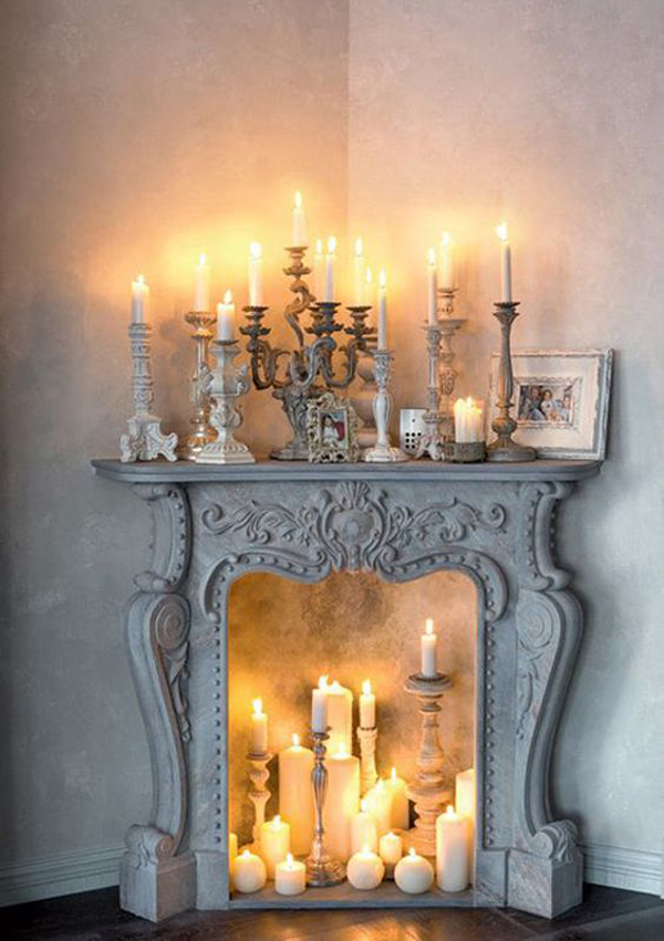 classic-and-romantic-candle-fireplaces