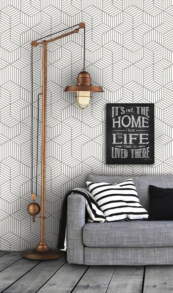 cube-pattern-geometric-living-wallpaper