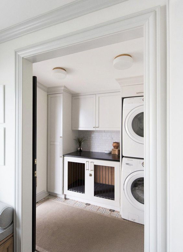 functional-laundry-cabinet-with-dog-kennel