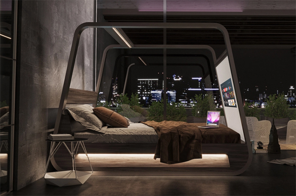 futuristic-HiBed-with-televisions