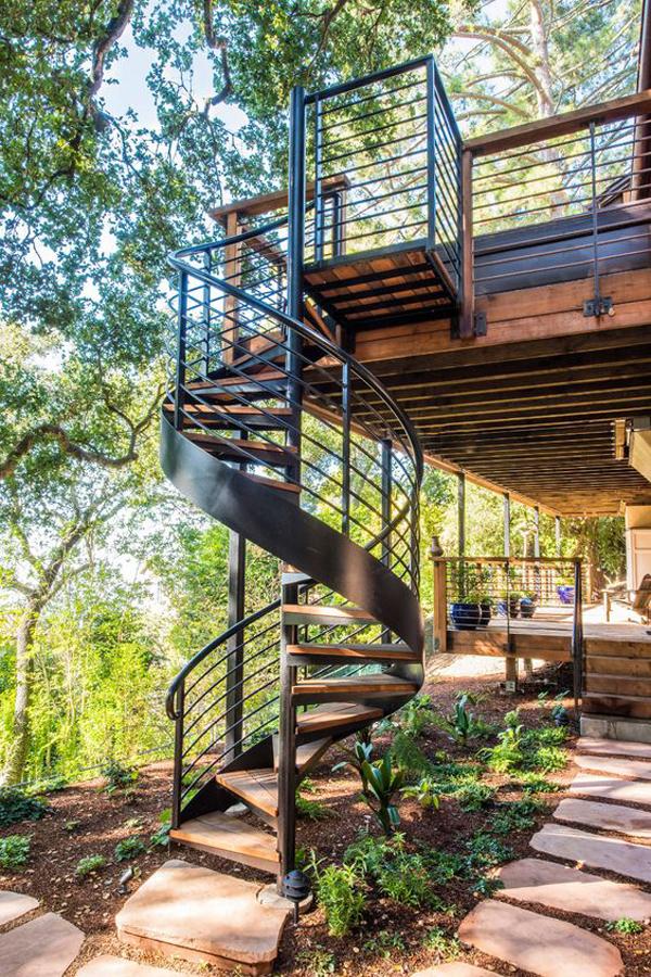 industrial-outdoor-spiral-staircase-design