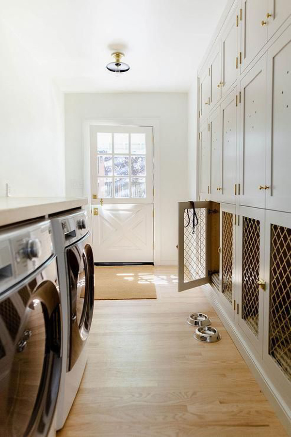 large-laundry-room-with-built-in-dog-kennels