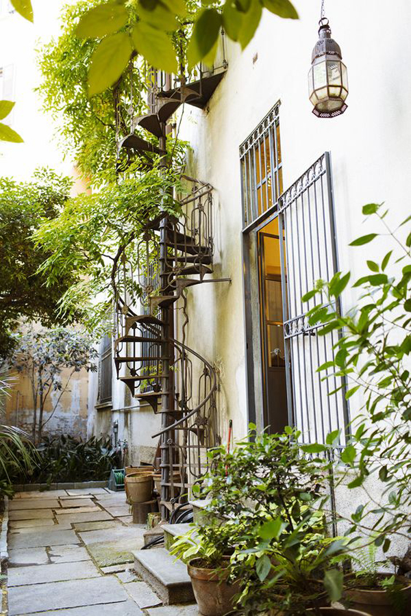 nature-terrace-with-metal-spiral-staircase