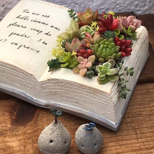 old-book-succulent-planter-ideas