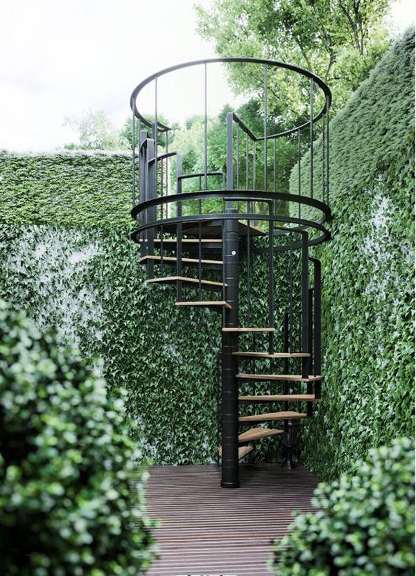 outdoor-spiral-staircase-for-vertical-garden
