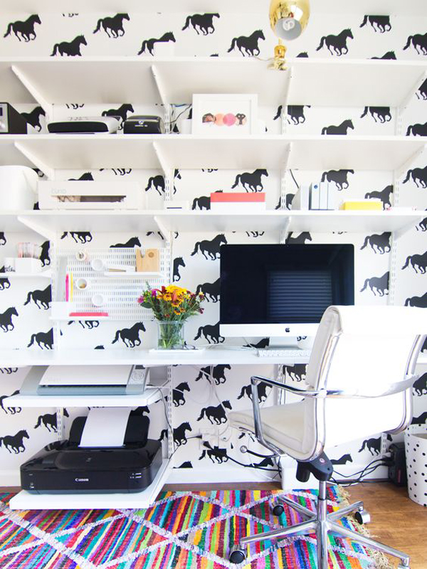 pell-and-stick-horse-home-office-wallpaper