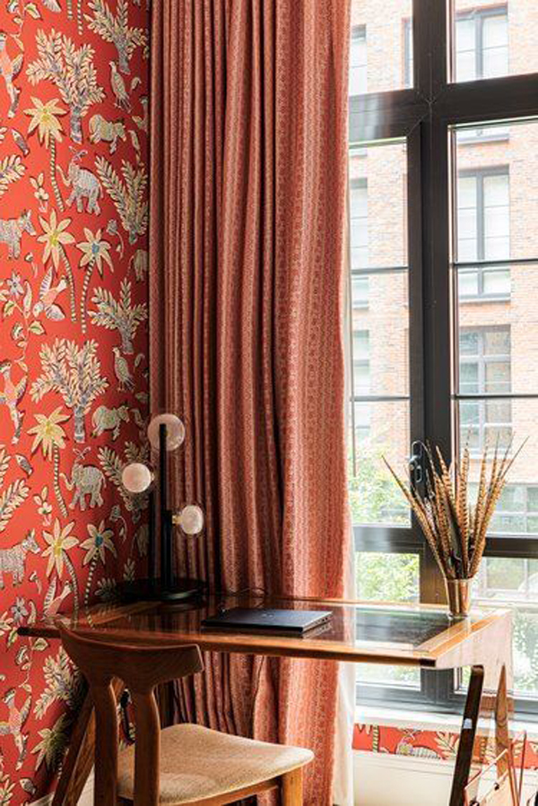 red-classic-home-office-wallpaper